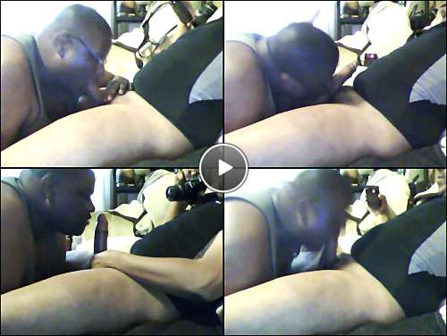 black gay dick sucking video